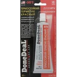 DD6726 Герметик прокладка (силикон) термостойкий (85г) красный