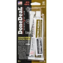 DD6729 Герметик прокладка (силикон) термостойкий (85г) медный