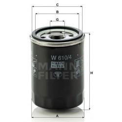 Фильтр масл  MANN  W 610/4 (Nissan Primera, Sunny, Micra I, II)