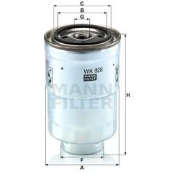 Фильтр топл  MANN  WK 828x ( Toyota )