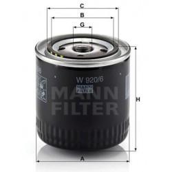 Фильтр масл  MANN  W 920/6