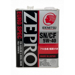 IDEMITSU масло мот 5w40 Zepro EURO SN/CF  (4л) синт. 1849004
