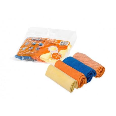 Набор салфеток из микрофибры, 4 шт. AIRLINE (20*20 см)