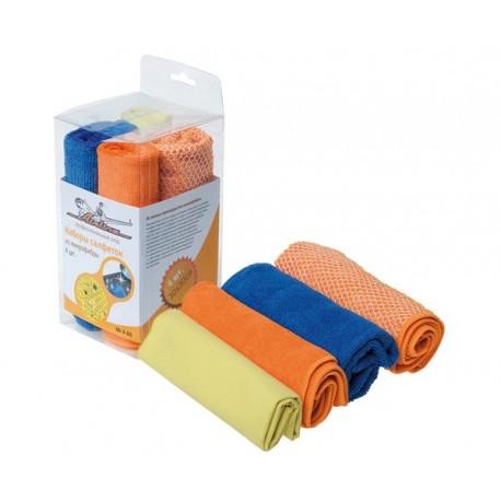 Набор салфеток из микрофибры, 4 шт. AIRLINE (30*30 см)