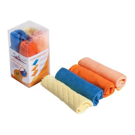 Набор салфеток из микрофибры и профибры, 4 шт. AIRLINE (30*30 см)