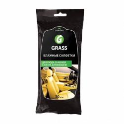 Салфетки влажные для кожаного салона GRASS (30 шт)