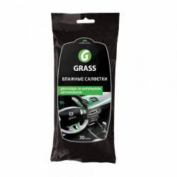 Салфетки влажные для салона GRASS (30 шт)