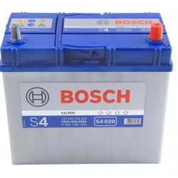 АКБ BOSCH S4 45-R (обратный) ASIA тонк кл (545 155 033) залитый (S4 020)