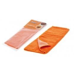 Салфетка из микрофибры и коралловой ткани AIRLINE оранжевая (35*40см)